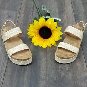Cork Sandals Natural Hemp Boho Birk NEW NWT